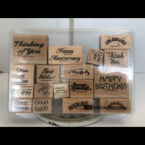 Stampin' Up! Great Greetings retired stamps